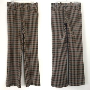 Vintage 70s Montgomery Ward High Rise Plaid Pants